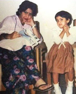 Aindrita Ray with mother Sunita Ray: childhood photo