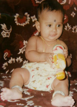 Amulya childhood photo