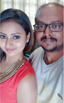 Amulya with her brother