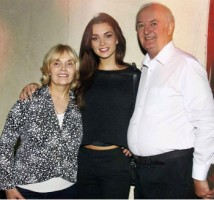 Amy jackson with her parents: alan jackson(father) & marguerita jackson(mother)