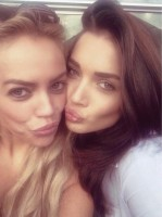 Amy jackson with her sister alicia jackson