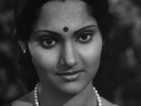 An old white and black pic of madhavi