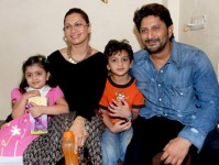 Arshad warsi with wife maria goretti and children in 2010