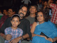 Arun sagar family: with wife meera and daughter