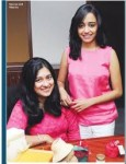 Arundathi nag and shankar nag's daughter kavya nag (left)