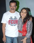 Avinash with wife malavika