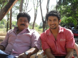 Bhuvan ponnanna with jaggesh