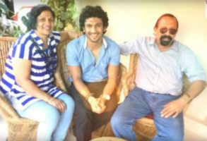 Bhuvan Ponanna (Center) with his Parents, Mother(Left) & Father (right)