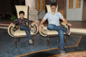 Boyapati srinu with his son harshith