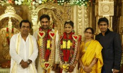 Brahmanandam with his family in sons wedding.
