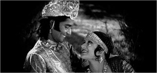 Charu roy and seeta devi in the 1929 film prapancha pasha (a throw of dice)