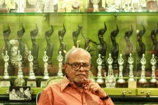 Director k balachandar with his medals