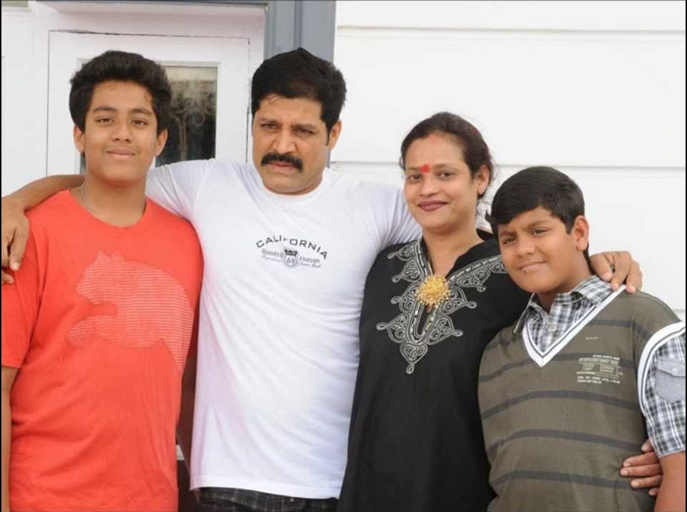 Disco Shanti family- Husband Srhari, Sons Shashank & Megamsh