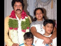 Disco shanti with husband srihari and sons