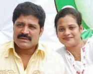 Disco shanti with husband srihari