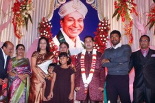 Dr rajkumar's grand daughter's wedding
