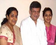 Gayathri and ananth nag with their daughter aditi