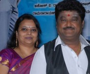 Jaggesh with wife parimala