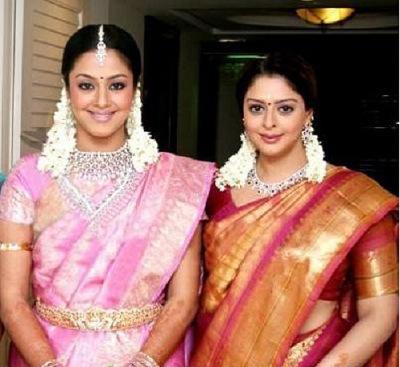 Jyothika with husband suriya and sister nagma