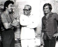K balachandar with rajinikanth and kamal hassan