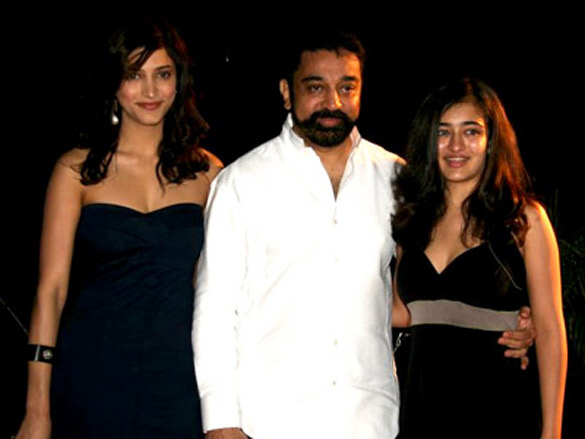 Kamal Haasan with daughters Akshara Haasan and Shruti Haasan