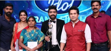 Lv revanth at indian idol competition