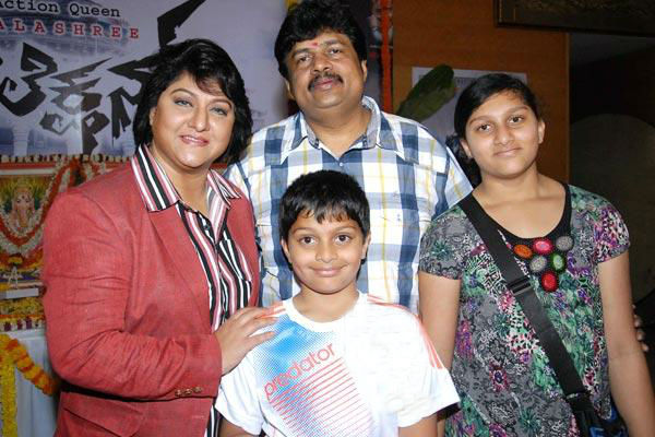 Malashri family: husband ramu, daughter ananya and son