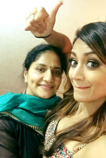 Mamta Mohandas with her Mother Ganga