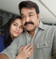 Mohanlal with wife suchithra balaji