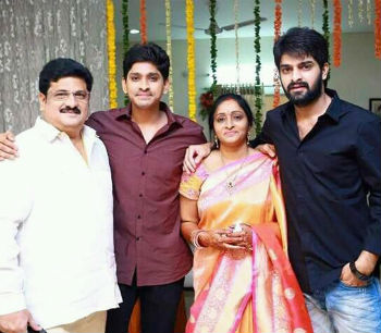Naga Shourya Family: Shankar Prasad(Father), Usha Prasad(Mother), Gautam Prasad(Brother)