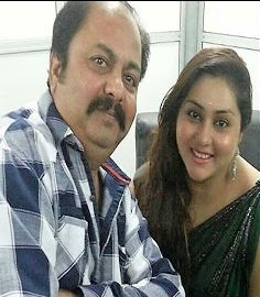 Namitha with father mukesh vankawala