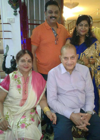 Naresh parents: Mother Vijaya Nirmala, wife Ramya & step father Krishna