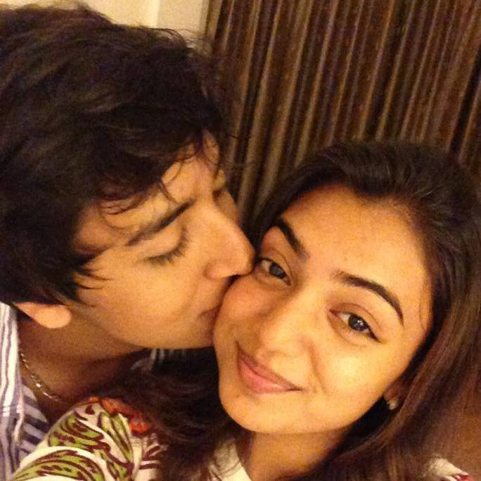 Nazriya Nazim with her brother Naveen nazim