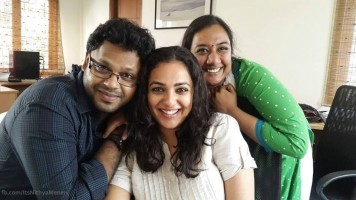 nithya menen family: brother & mother
