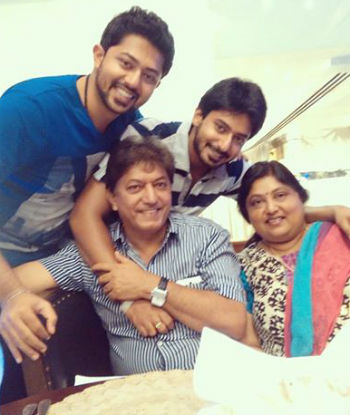 Prajwal Devaraj family: father Devaraj, mother Chandralekha, brother Pranam