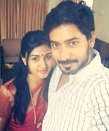 Prajwal Devaraj with his wife Ragini Chandran
