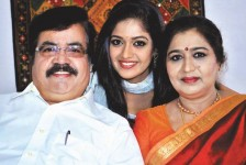Meghana Raj with Parents- Sundar Raj(Father) & Pramila Joshai (Mother)