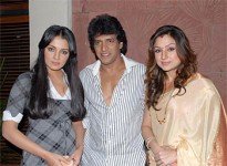 Priyanka upendra with her husband upendra and actress celina jaitley
