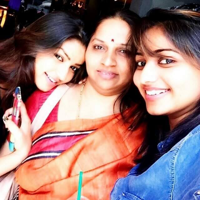Rachita Ram with mother