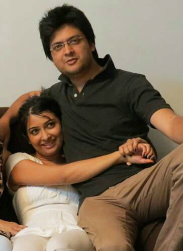 Radhika Pandit with brother Gaurang
