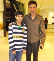 Rahul dev with son siddharth