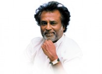 Rajinikanth in white and white