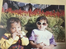 Rakul preet singh childhood photo with her brother
