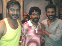 Ravi verma on the sets of action jackson with prabhu deva and ajay devagan.