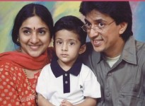Rohini with husband raghuvarana and son rishivaran