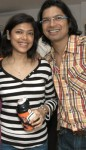 Sagarika mukherjee with brother singer shaan