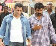 Salman khan with ravi varma for action shooting of jai ho movie.