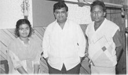 Sangeeta katti with famous singer s.p.balasubramanyam in one of her recordings