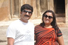 Sangeetha gururaj with her husband ravishankar
