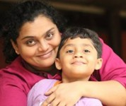 Sangeetha gururaj with her son